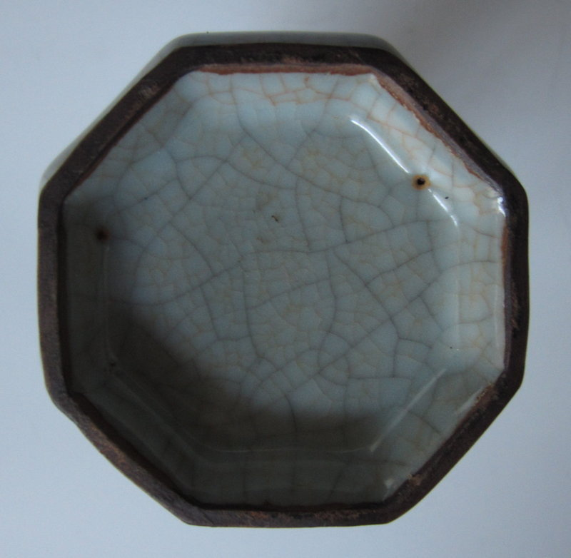 Chinese Monochrome Pale Blue Crackle Porcelain Vase