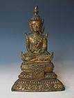 Thai Buddha Statue in the Ayutthaya Style