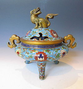Chinese Cloisonne Urn