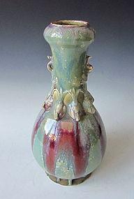 Antique Japanese Vase Emulating Song Glaze