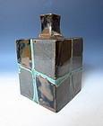 Square Mashiko Ware Vase by Hamada Shoji