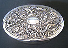 Chinese Antique Silver Box with Dragons, Wang Hing Co.