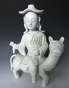 Antique Chinese Dehua Porcelain Statue