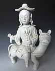 Antique Chinese Dehua Porcelain Statue