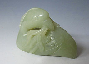 Chinese Jade Seated Goose Toggle