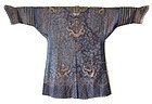 Chinese Antique Blue Gauze Summer Dragon Robe