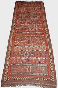 Antique Qashqai Hand Woven Kilim