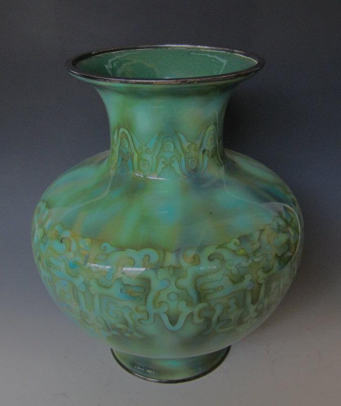 Antique Japanese Cloisonne Vase Signed Ando