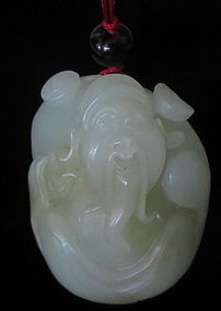 Republic Period Chinese Jade Carved Sage