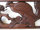 Japanese Antique Ranma with Large Hawk