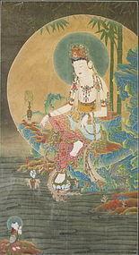 Korean Buddhist Painting of Suwol Gwaneum
