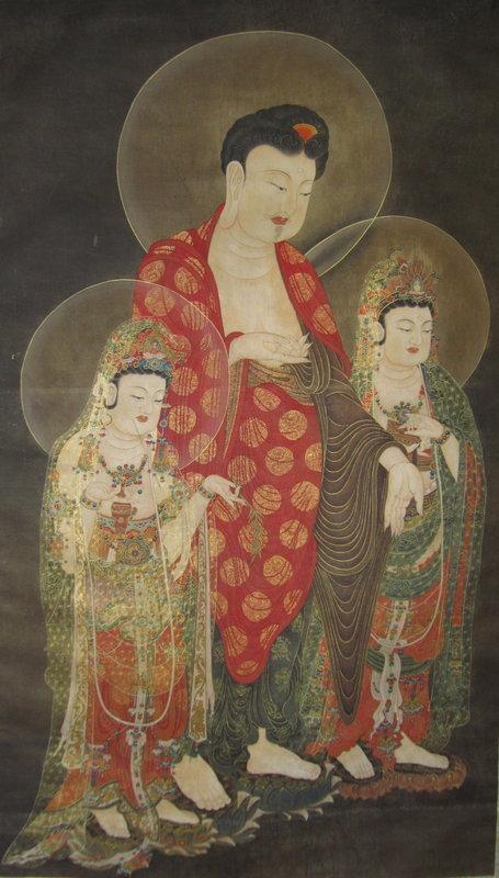 Korean Buddhist Painting Amitabha Triad