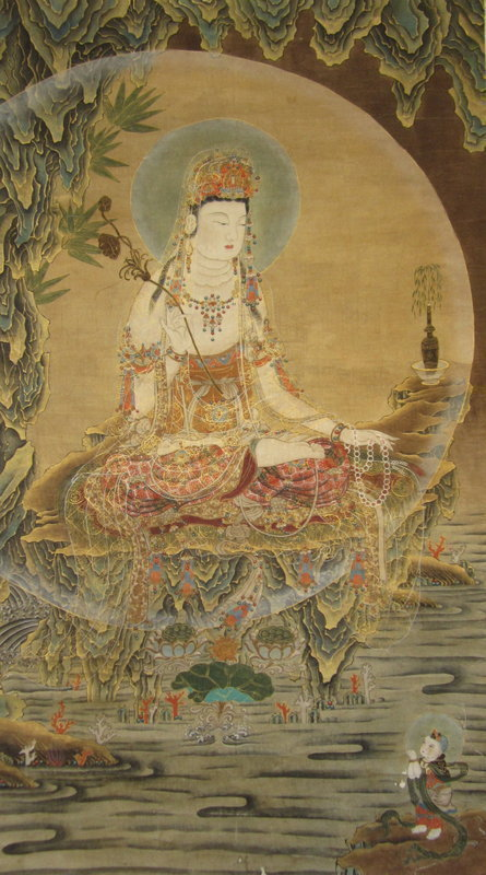 Korean Scroll Painting of Quanyin
