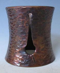 Japanese Bronze Futaoki with Tachizuru Motif