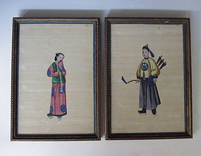 Pair of Cantonese Export Paintings