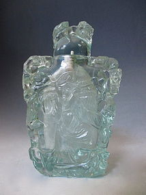 Antique Chinese Aquamarine Colored Snuff Bottle