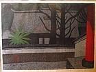Japanese Woodblock of Obakusan by Saito Kiyoshi