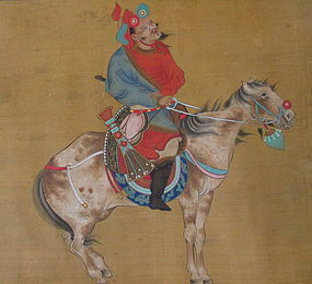 Chinese Hand scroll of Hunting Scene Jin Tingbiao