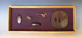 Antique Japnese Set of  Sword Fittings