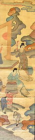 Antique Chinese Courtyard Scene Kesi fabric