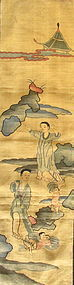 Antique Chinese Wrestling Scene Kesi Panel