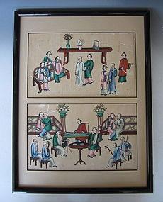 Cantonese Export Painting - Amorous Pursuit