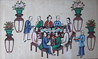 Cantonese Export Painting - Banquet Scene