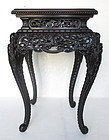 Antique Japanese Table with Motifs of Dragons
