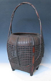 Japanese Bamboo Basket By Shochikusai