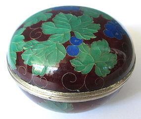 Antique Japanese Plique-a-jour Box