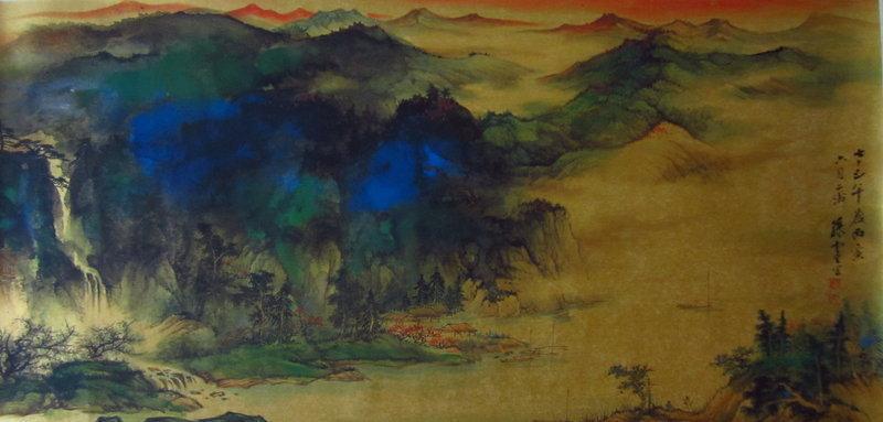 Large Chinese Landscape Painting Sun Yun Sheng