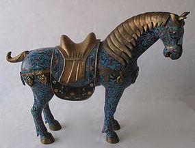HugeChinese Cloisonne Horse
