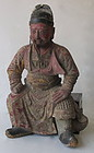 Chinese Ming Dynasty Wooden Figure