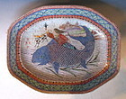 Antique Chinese Plate with Sage on Fish