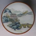 Antique Chinese Round Porcelain Container