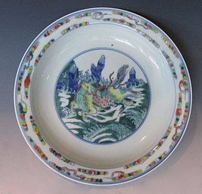 Antique Chinese Plate with Horse