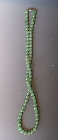 Chinese Jade Beaded Necklace