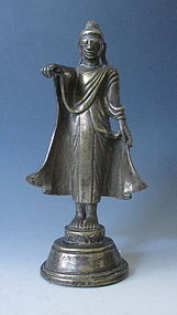Antique Burmese Bronze Buddha