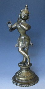 Antique Bronze Krishna