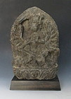 Antique Stone carving of Mahalakshmi