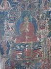 Tibetan Thangka of Dipankar Buddha