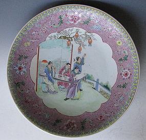 Chinese Dish with Garden Scene
