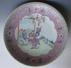 Chinese Dish with Garden Scene