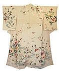 Japanese Silk Kimono with Flowers and Stream