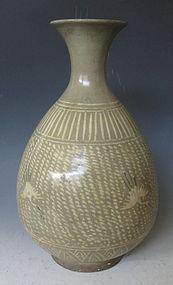 Korean Joseon Period Buncheong Celadon Vase