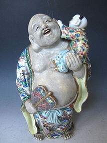Kutani ware Sculpture of Hotei