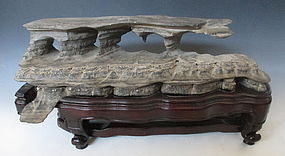 Chinese Scholar Rock and Stand