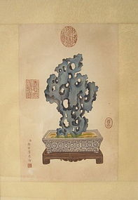 Chinese Painting of Taihu Scholar Rock
