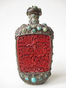 Antique Chinese Metal Snuff Bottle