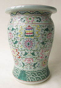 Chinese Polychome Porcelain Stool